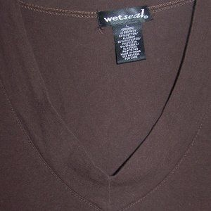 WOMENS WET SEAL TOP LARGE SHORT SLEEVE